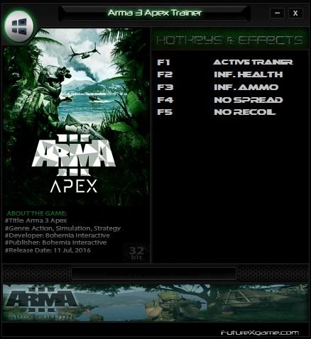 Скачать Трейнер Для Arma 3 Apex - фото 3
