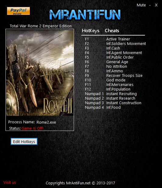 Total war: rome 2 cheats, trainers & hacks.
