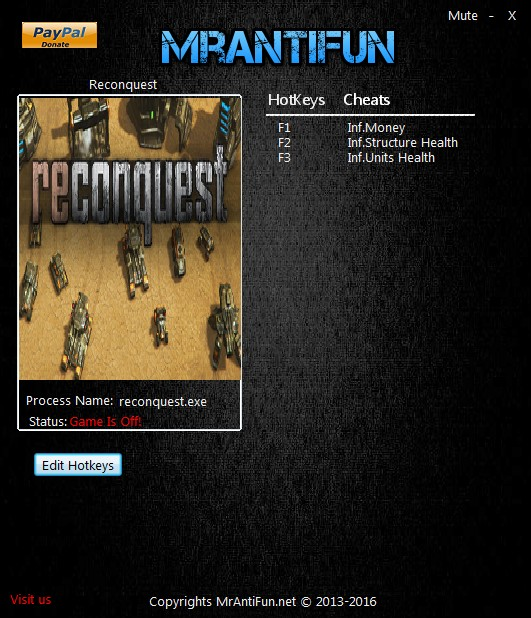 Reconquest: Trainer +3 v.1.838 {MrAntiFun}