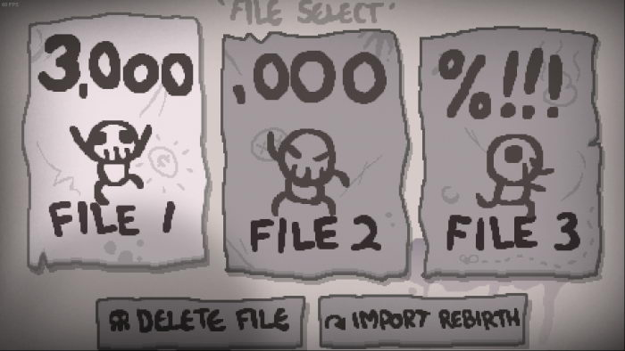 The Binding of Isaac Afterbirth+: Save Game (3.000.000 for Isaac)
