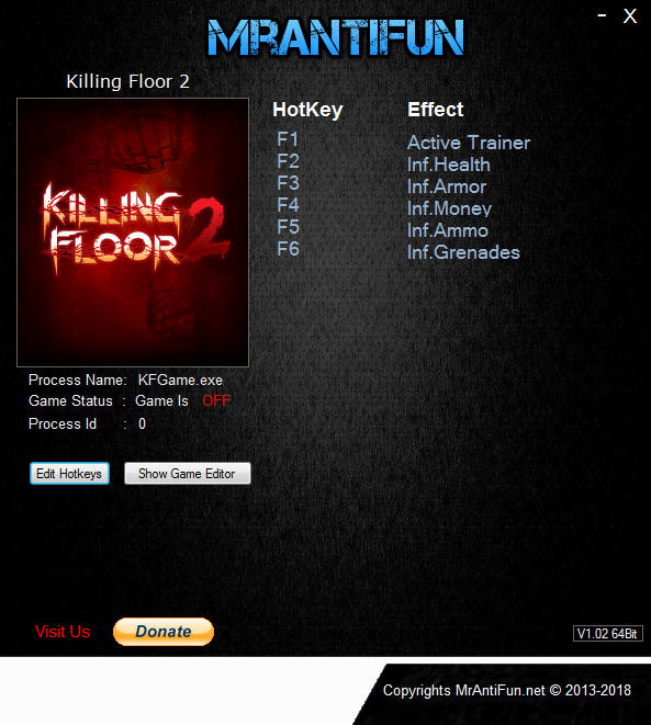 Killing Floor 2: Trainer +5 v1075 {MrAntiFun}