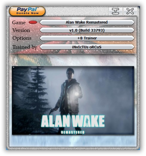 Alan Wake: Trainer (+12) [Latest Steam] {LIRW / GHL}