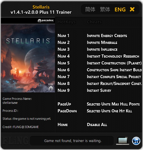 Stellaris: Trainer +11 [1 4 1 - 2 0 0] {FLiNG} - Download