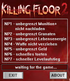 Killing Floor 2: Trainer (+7) [Early Access b1001] {dR.oLLe}