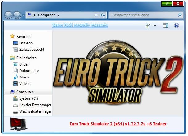 Euro Truck Simulator 2: Trainer +6 v1.32.3.7s {iNvIcTUs oRCuS / HoG}
