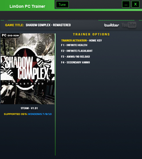 Shadow Complex Remastered: Trainer (+4) [1.01] {LinGon}