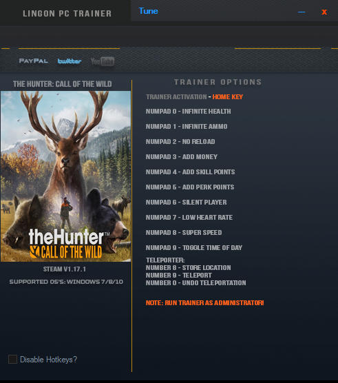 Скачать трейнер для the hunter call of the wild all version