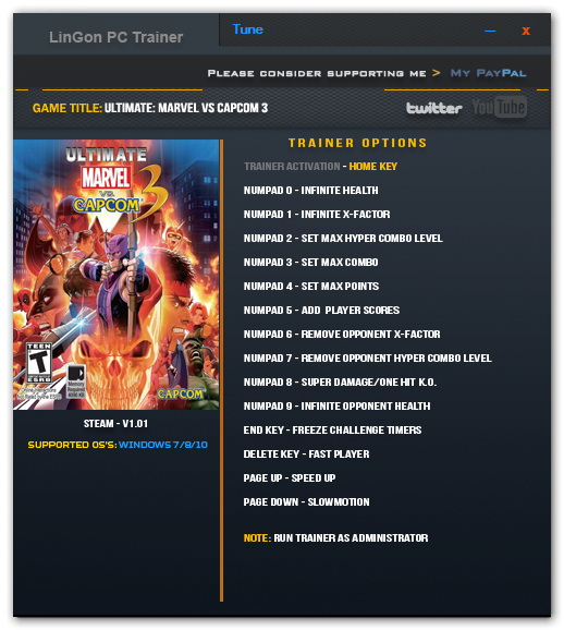 Ultimate Marvel vs. Capcom 3: Trainer (+13) [1.0] {LinGon}