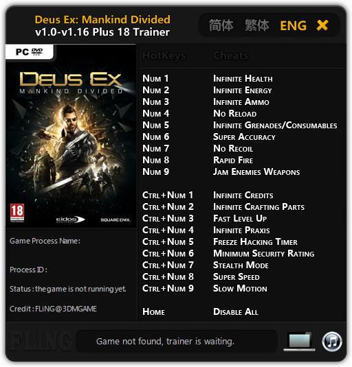 Deus Ex Mankind Divided V  Build   Trainer