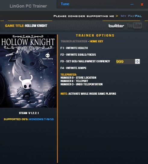 скачать трейнер для Hollow Knight - фото 2