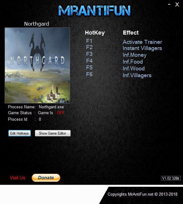 Northgard: Trainer +5 v1.4.10795 {MrAntiFun}
