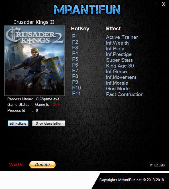 Crusader Kings 2: Trainer +11 v3.0 {MrAntiFun}