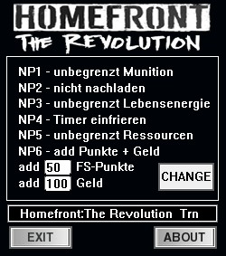 Homefront: The Revolution: Trainer (+8) [6.03.17] {dR.oLLe}