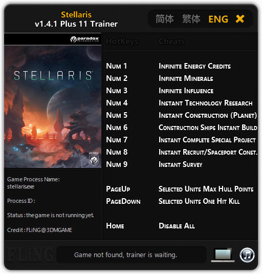 Stellaris: Trainer (+11) [1.4.1] {FLiNG}