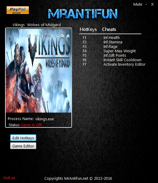 Vikings - Wolves of Midgard: Trainer (+11) [UPD: 03.04.2017] {MrAntiFun}
