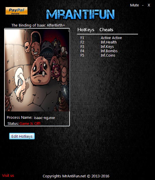 The binding of isaac: afterbirth+: +7 трейнер.