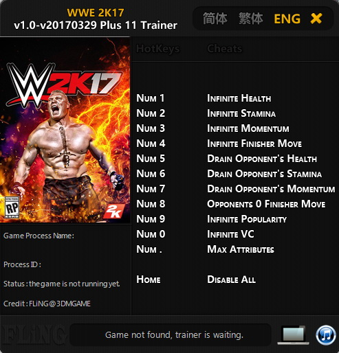 <b>WWE 2K17</b>: Trainer (+11) [1.0 - UPD: 29.03.2017] {FLiNG} - Download ...