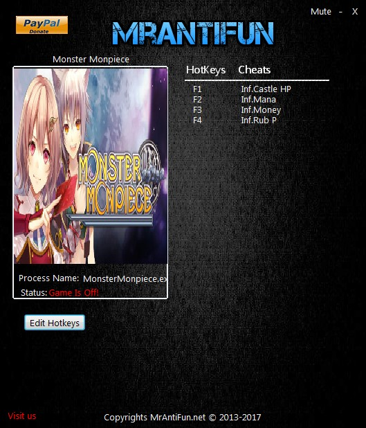 Monster Monpiece: Trainer +4 v1.01 {MrAntiFun}