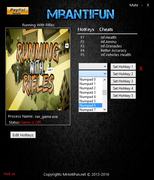 Running With Rifles: Trainer (+5) [1.50] {MrAntifun}