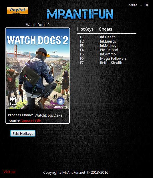 Watch_Dogs 2: Trainer (+7) [1.015.183.1064214] {MrAntiFun}