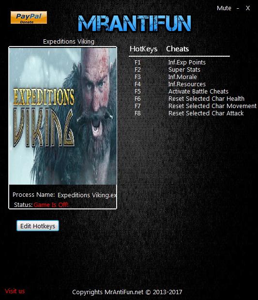 Expeditions: Viking: Trainer (+7) [1.04] {MrAntiFun}