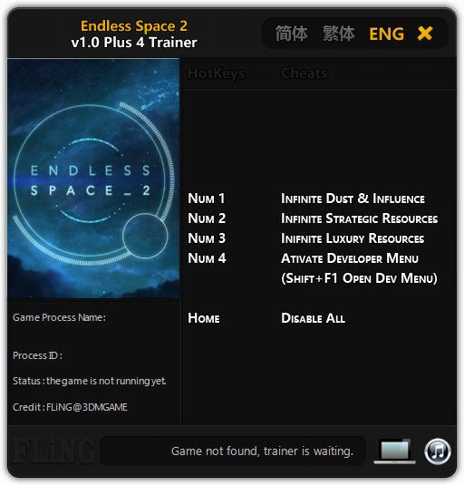 Endless Space 2: Trainer +4 v1.0 {FLiNG}