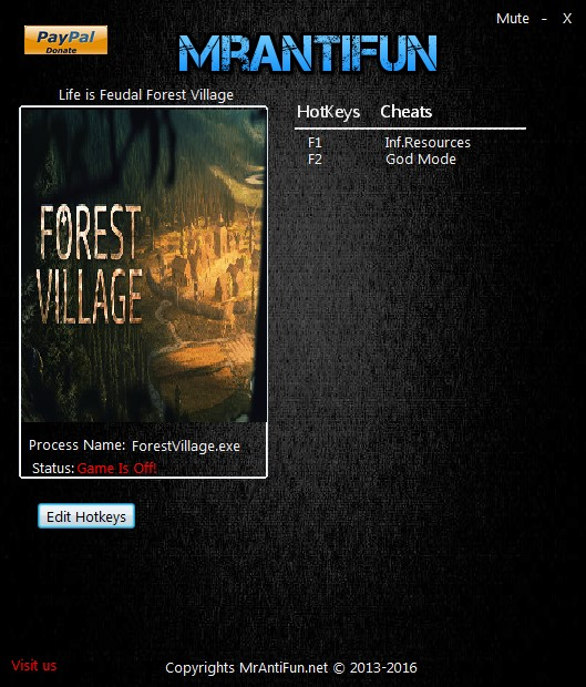 Life is Feudal: Forest Village - Trainer (+2) [1 0 6216] {MrAntiFun
