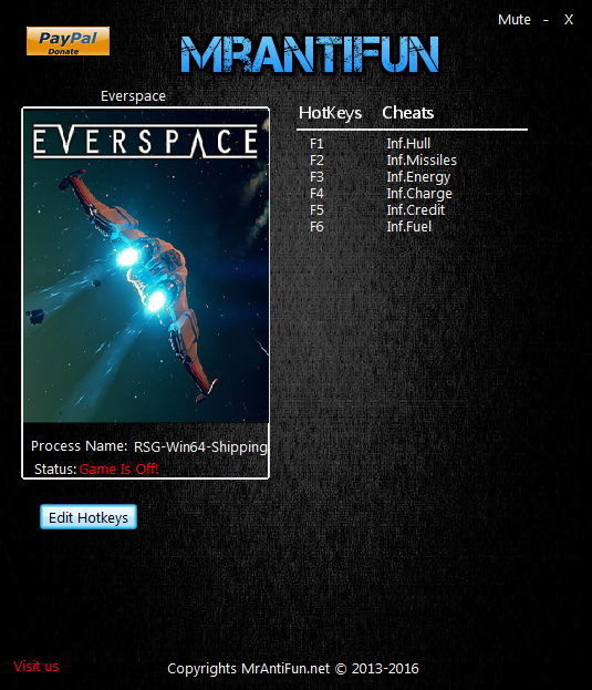 Everspace: Trainer (+6) [1.0.6.32482] {MrAntiFun}