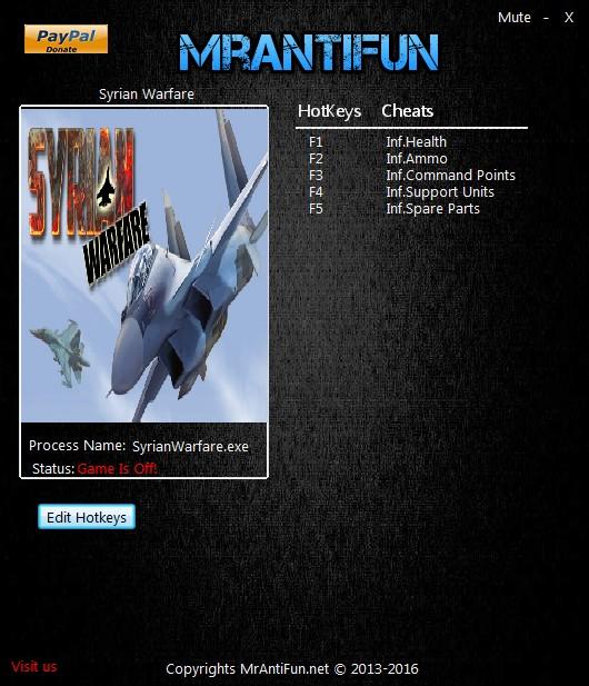 Syrian Warfare: Trainer (+5) [1.0.0.43] {MrAntiFun}