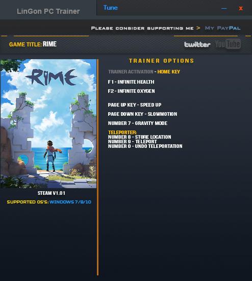 RiME: Trainer +7 v1.01 64bit {LinGon}