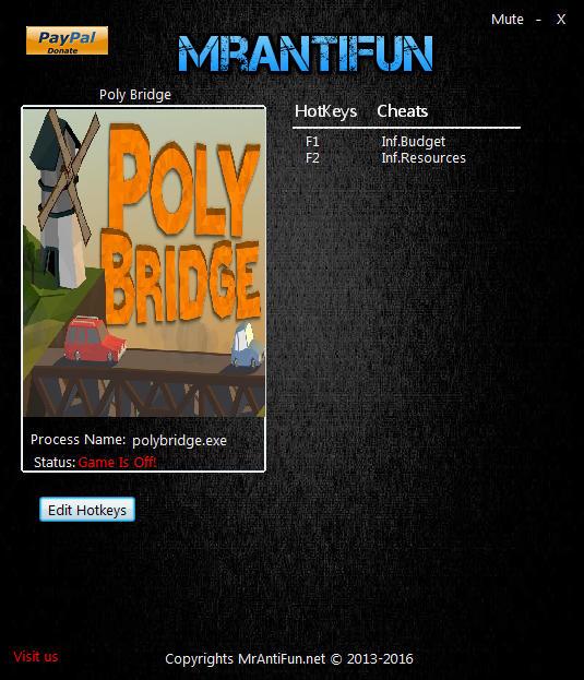 Poly Bridge: Trainer (+2) [1.0.5] {MrAntiFun}