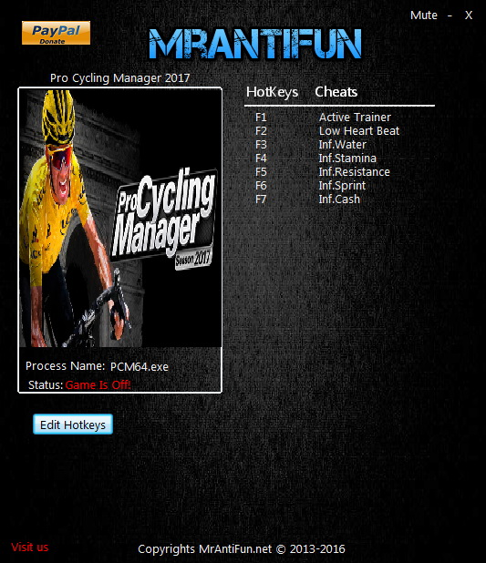 Pro Cycling Manager 2017: Trainer +6 v1.0.2.3 {MrAntiFun}