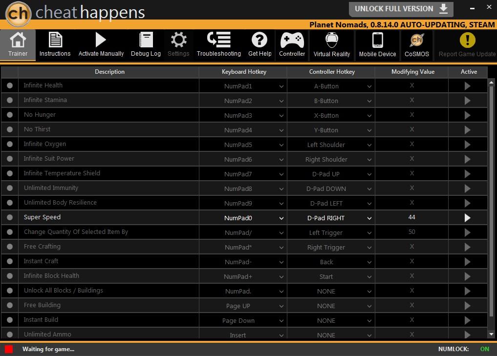 Planet Nomads: Trainer +22 v0.6.11 {CheatHappens}