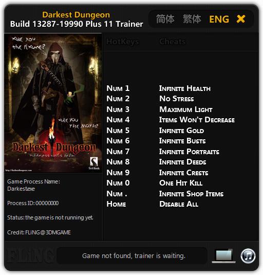 Trainer darkest dungeon build youtube.