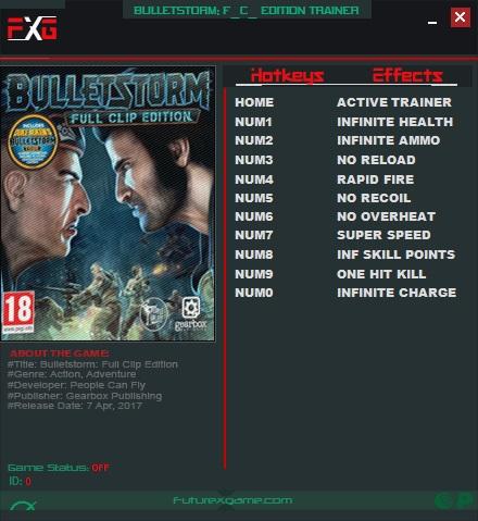 Bulletstorm - Full Clip Edition: Trainer (+10) [1.0] {FutureX}