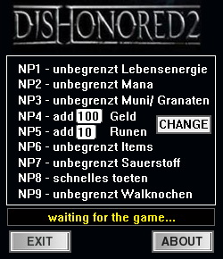 Dishonored 2: Trainer +9 [1 77 5 0] {dR oLLe} - Download