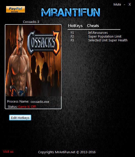 Cossacks 3: Trainer (+3) [1.6.3.77.5349] {MrAntiFun}