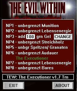 The Evil Within - The Executioner: Trainer (+8) [1.7] {dR.oLLe}