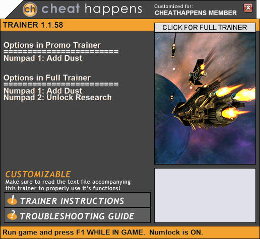 Endless Space: Trainer +2 V1.1.58+ {CheatHappens.com ...