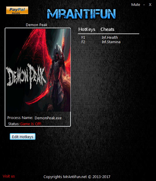 Demon Peak: Trainer +2 v07.08.2017 {MrAntiFun}