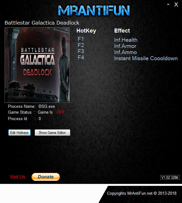 Battlestar Galactica Deadlock: Trainer (+4) [UPD: 05.09.2017] {MrAntiFun}