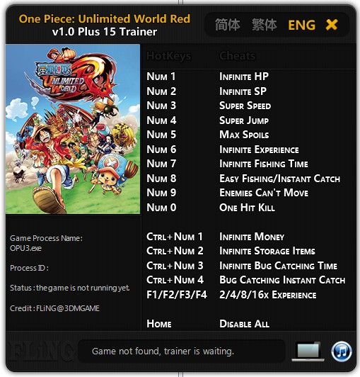 One Piece Unlimited World Red: Trainer (+15) [1.0] {FLiNG}