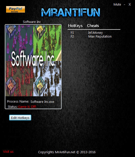 Software Inc.: Trainer +2 v9.10.11 64bit {MrAntiFun}
