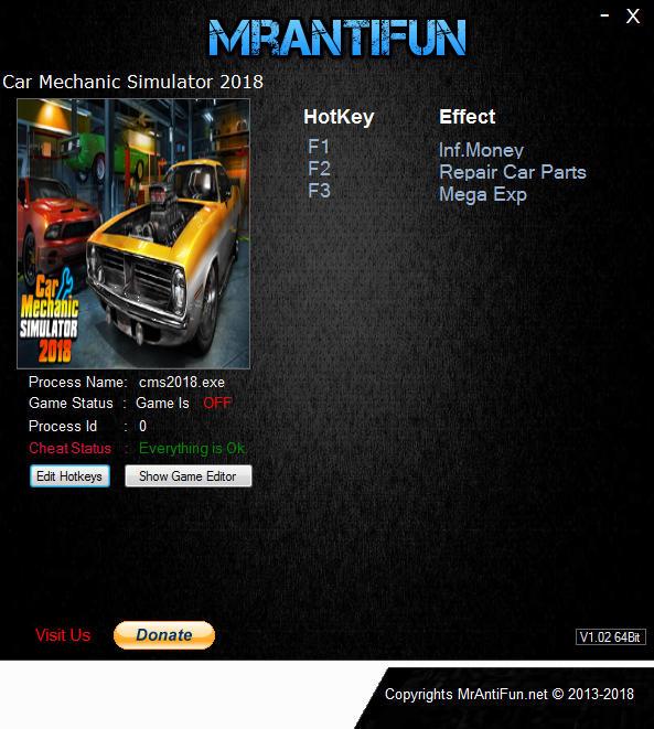 Car Mechanic Simulator 2018: Trainer +3 v1 5 22 {MrAntiFun