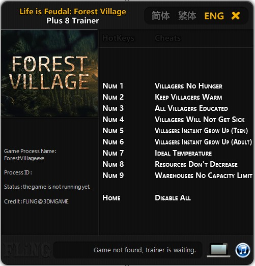 Life is Feudal: Forest Village: Trainer (+9) [Update: 18.09.2017] {FLiNG}