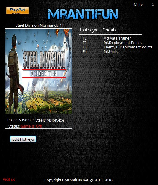 Steel Division: Normandy 44: Trainer (+6) [300086900] {MrAntiFun}