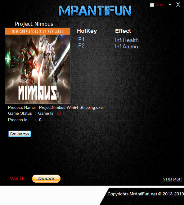 Project Nimbus: Trainer +2 v29.06.2019 {MrAntiFun}