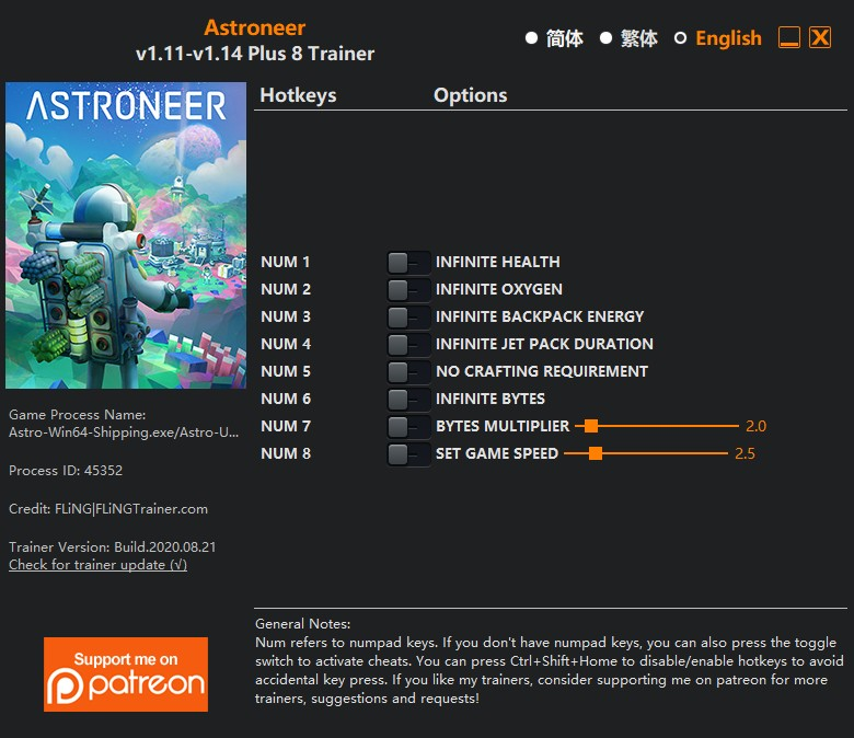 Astroneer: Trainer (+4) [0.4.10215] {MrAntiFun}
