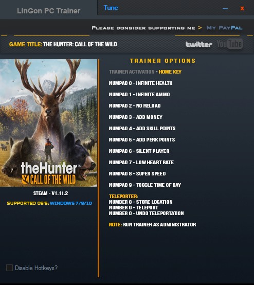 theHunter: Call of the Wild - Trainer (+12) [1.11.2] {LinGon}