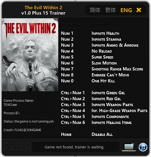The Evil Within 2: Trainer (+15) [1.0] {FLiNG}